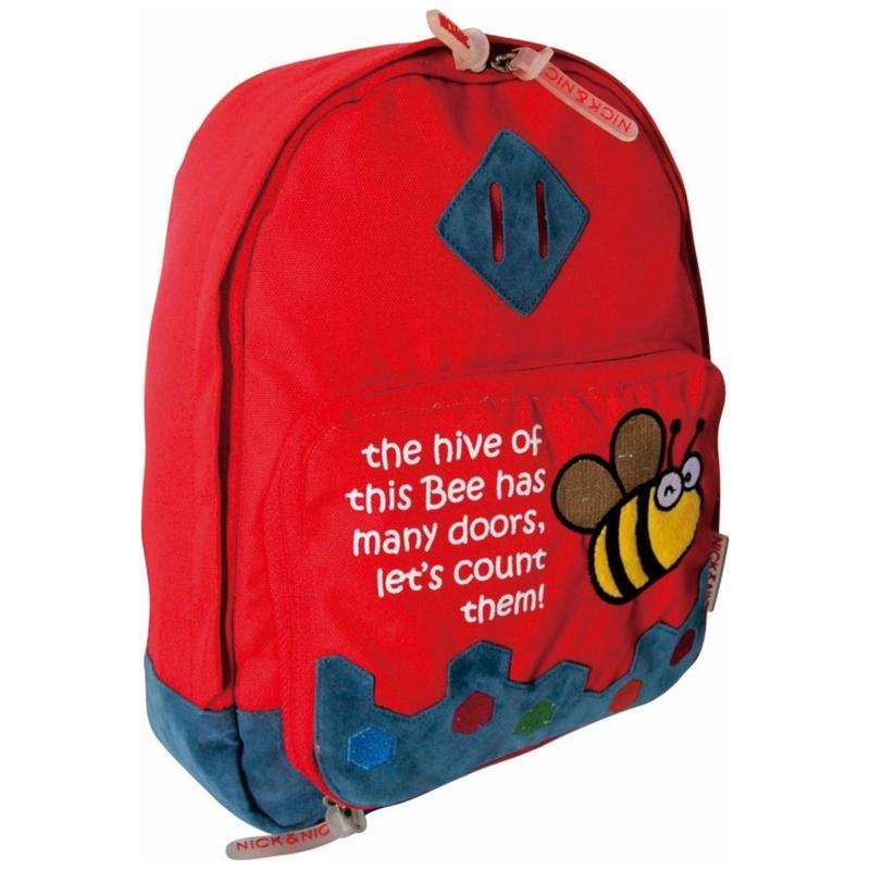 Nick & Nic Foldable Backpack Flying Bee (Red)