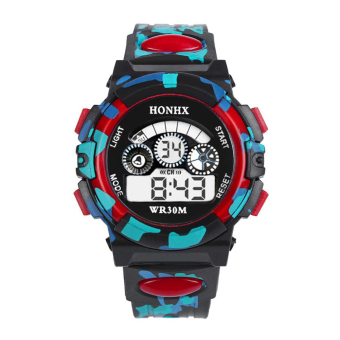 Outdoor Multifunction Waterproof Sports Electronic Watches (Red)