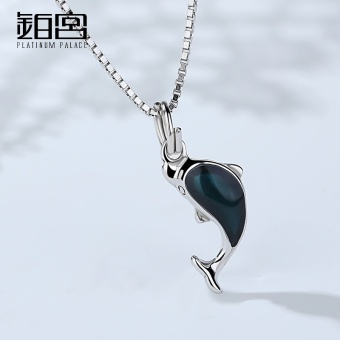 Platinum Palace sterling silver necklace female dolphin jewelry simple day Korean-style pendant clavicle chain wild birthday gift to send his girlfriend