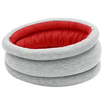 Portable Magical Ostrich Sleeping Pillow Nod Off Napping Office Red+Grey