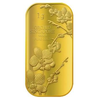 Harga Puregold Singapore Orchid (SERIES 1) Gold Bar 1g.