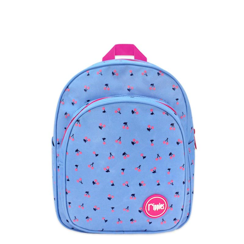 Ripples Kids Backpack Cherry (Mid Blue)