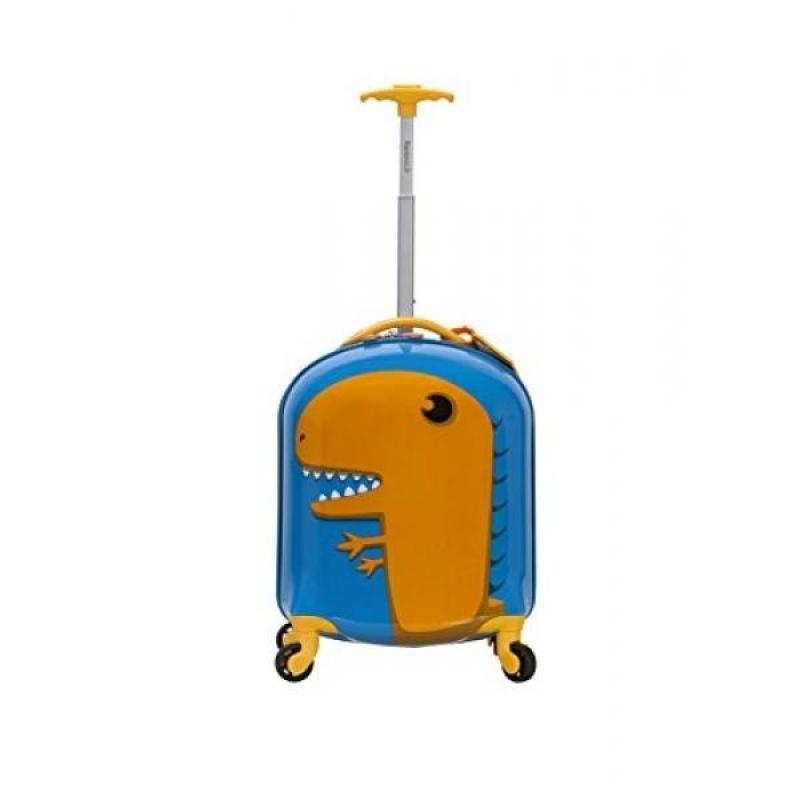 Rockland Jr. Kids My First Luggage-Polycarbonate Hard Side Spinner, Dinosaur - intl