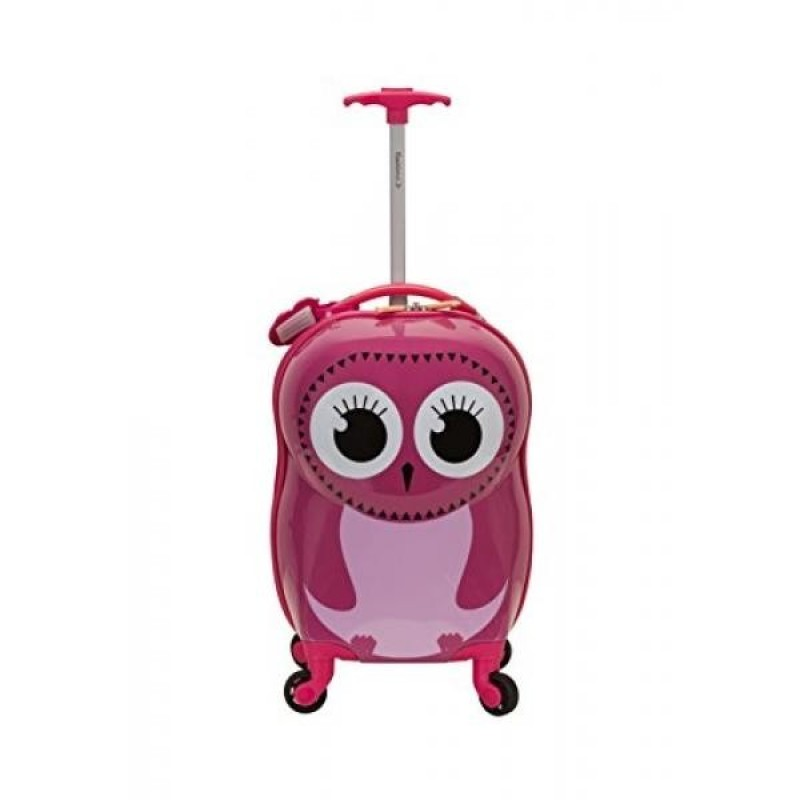 Rockland Jr. Kids My First Luggage-Polycarbonate Hard Side Spinner, Owl - intl