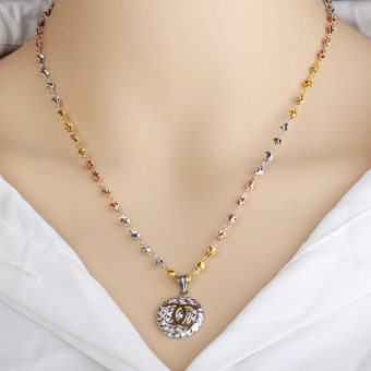 S925 color silver fat star fruit birthday gift clavicle chain pendant