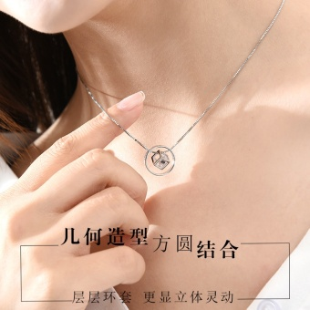 Silver Austrian s925 simple female Japanese and Korean style choker sterling silver