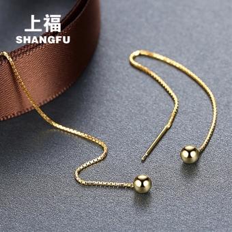 Silver hanging earrings female tassled earrings