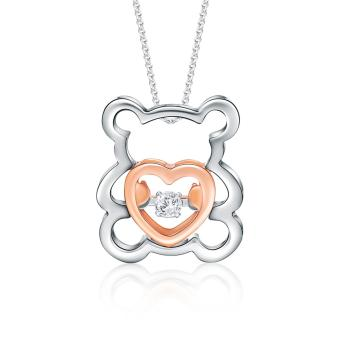 Harga SK Jewellery Bear of Love Diamond Pendant