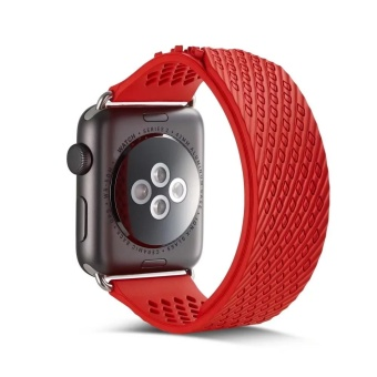 Soft Silicone Replacement Sport Band For Apple Watch Series 2/138mm RD - intl Price