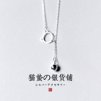 Tanabata s925 Korean-style female sterling silver cat choker necklace