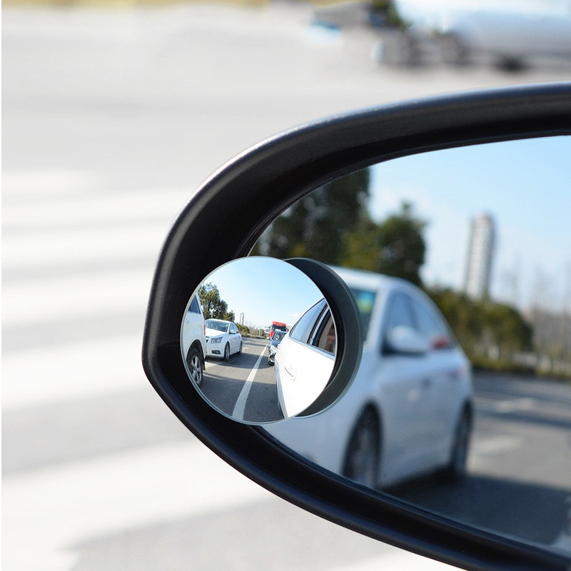 The Car Boundless 360 Small Round Mirror Blind Spot Lens Optic Rotating Glass