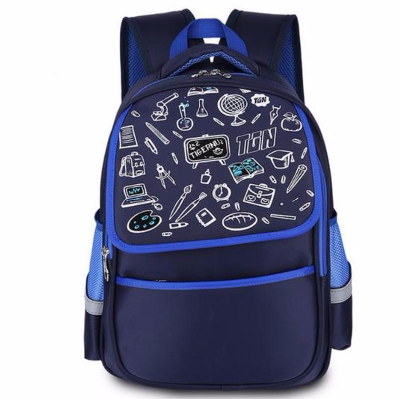 Tigernu school bag for girls boys schoolbag waterproof school backpack bag female school backpacks teenage girl school bags(Blue) - intl