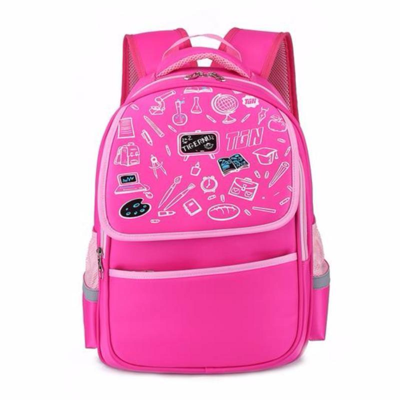 Tigernu school bag for girls boys schoolbag waterproof school backpack bag female school backpacks teenage girl school bags(Pink) - intl