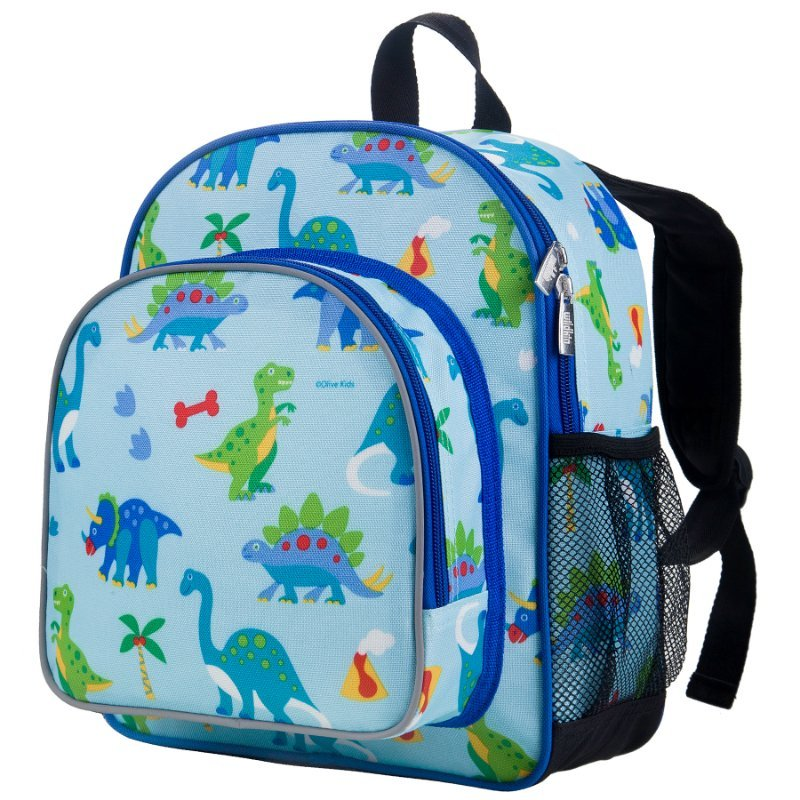 Wildkin Olive Kids Dinosaur Land Pack 'n Snack Backpack School Bag