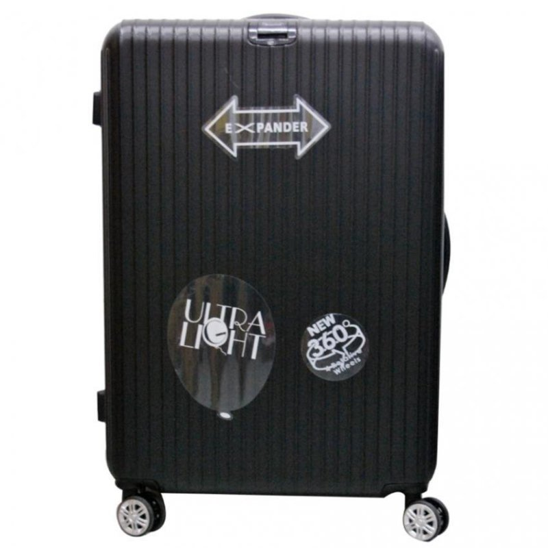 Winning Deleon ABS with 8 Wheels Expandable Spinner with TSA Lock 24inch (Black)
