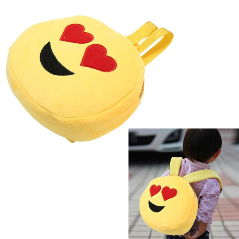 xupei Smiley CPlush Emotion Backpack Cute Emoji Shoulder Bag For Toddlers - intl