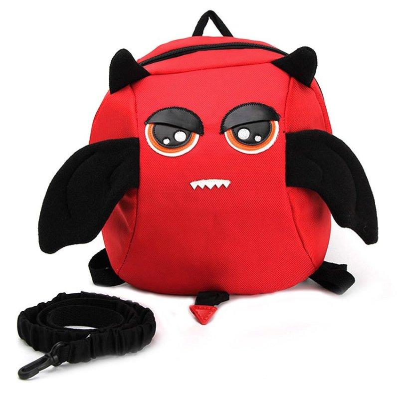 Yika Anti-Lost Kids Devil Backpack Rucksack School Bag (Red)