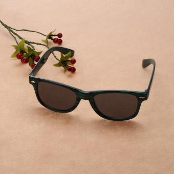 Zebra Print Wood Like Classic Sunglasses(Green)-one size - intl - 4
