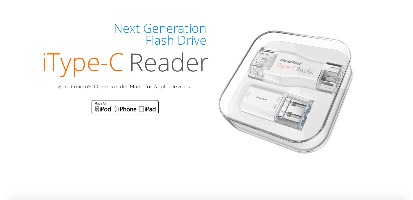 incl PhotoFast iType-C Reader Lightning /& USB-C USB and microUSB Adapter