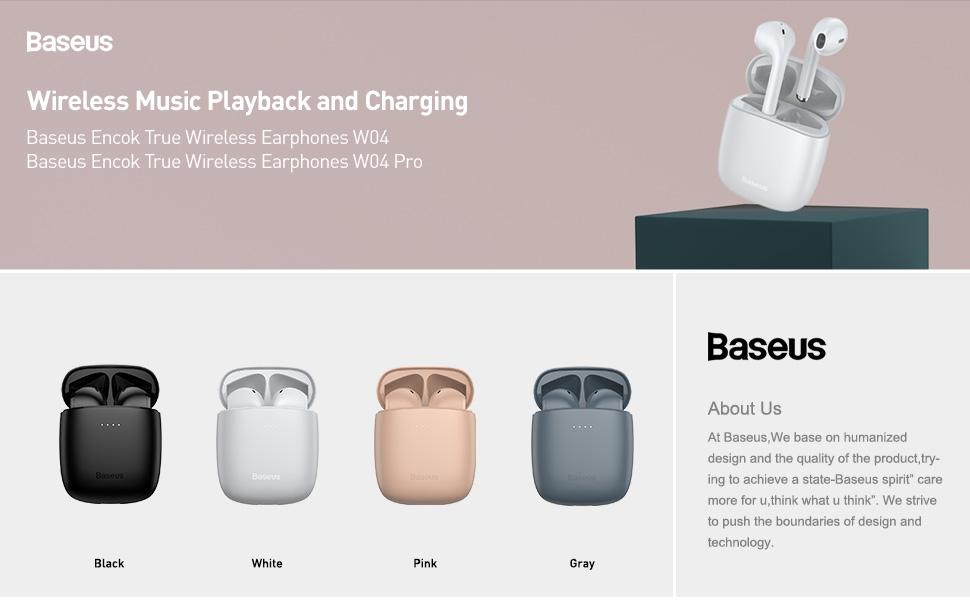 Baseus W04 / W04 Pro TWS Bluetooth 5.0 Earphone True Wireless ...