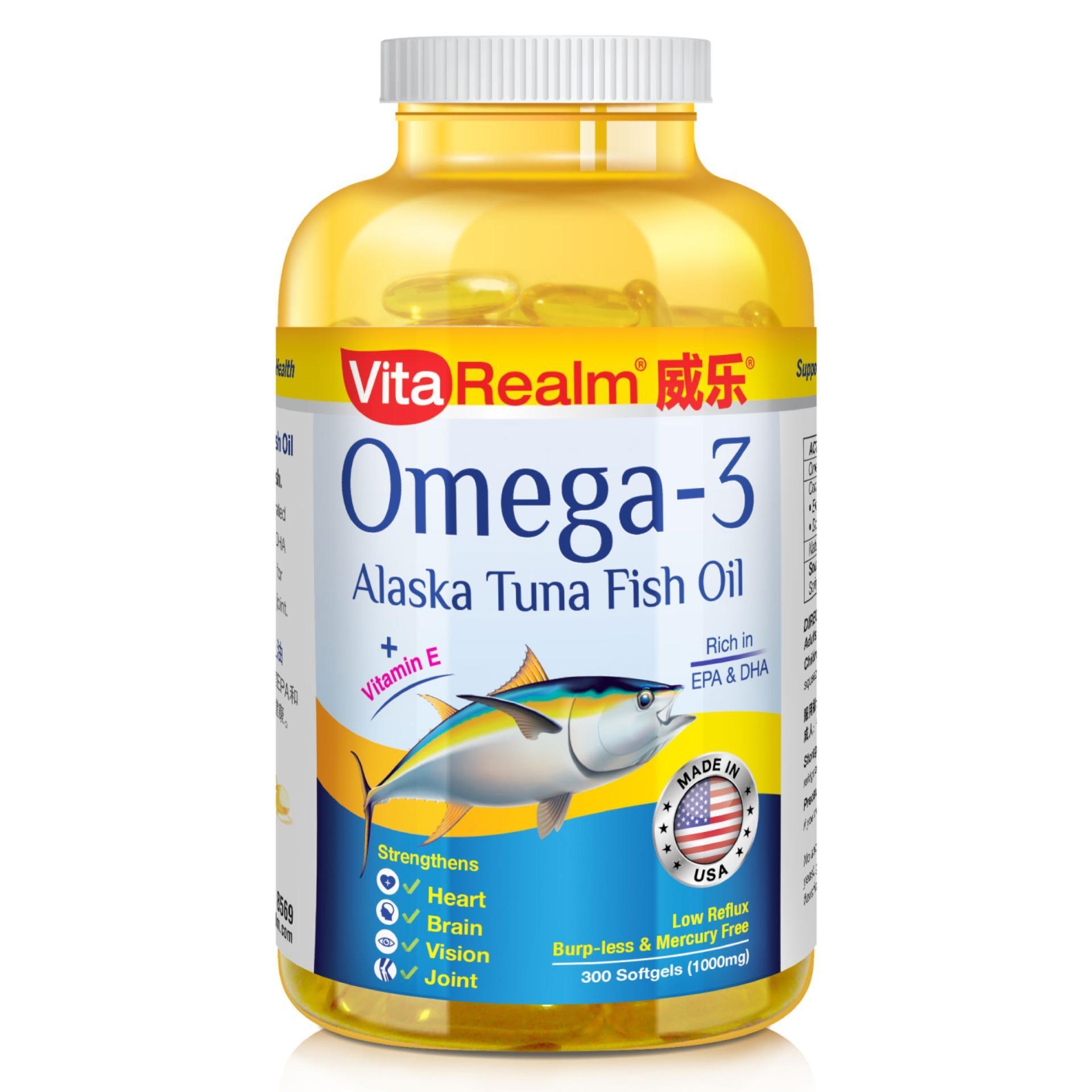 VitaRealm Extra Strength Omega-3 Alaska Tuna Fish Oil