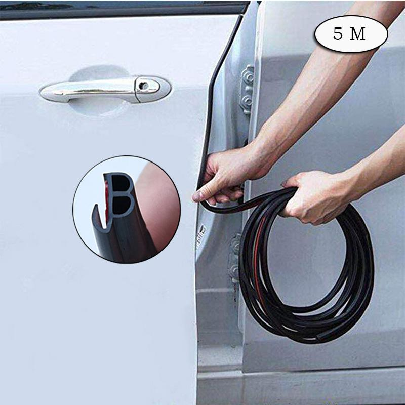 Rosekey Car Door Edge Guards Edge Trim Rubber Seal Protector Car Protection  Door Edge Sound Insulation Upgrade Two in one Fit Most Car CB005