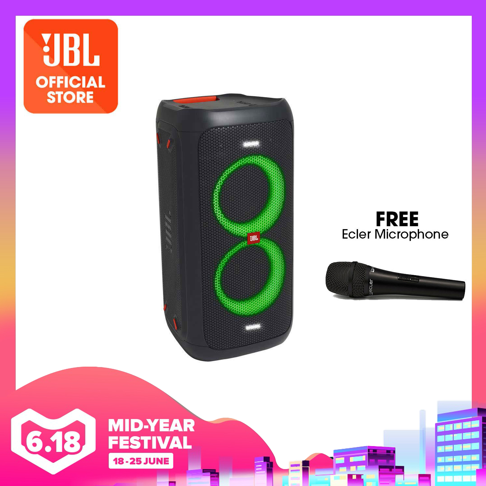 JBL PartyBox 100 Powerful portable Bluetooth party speaker with dynamic light show | Why Not Deals