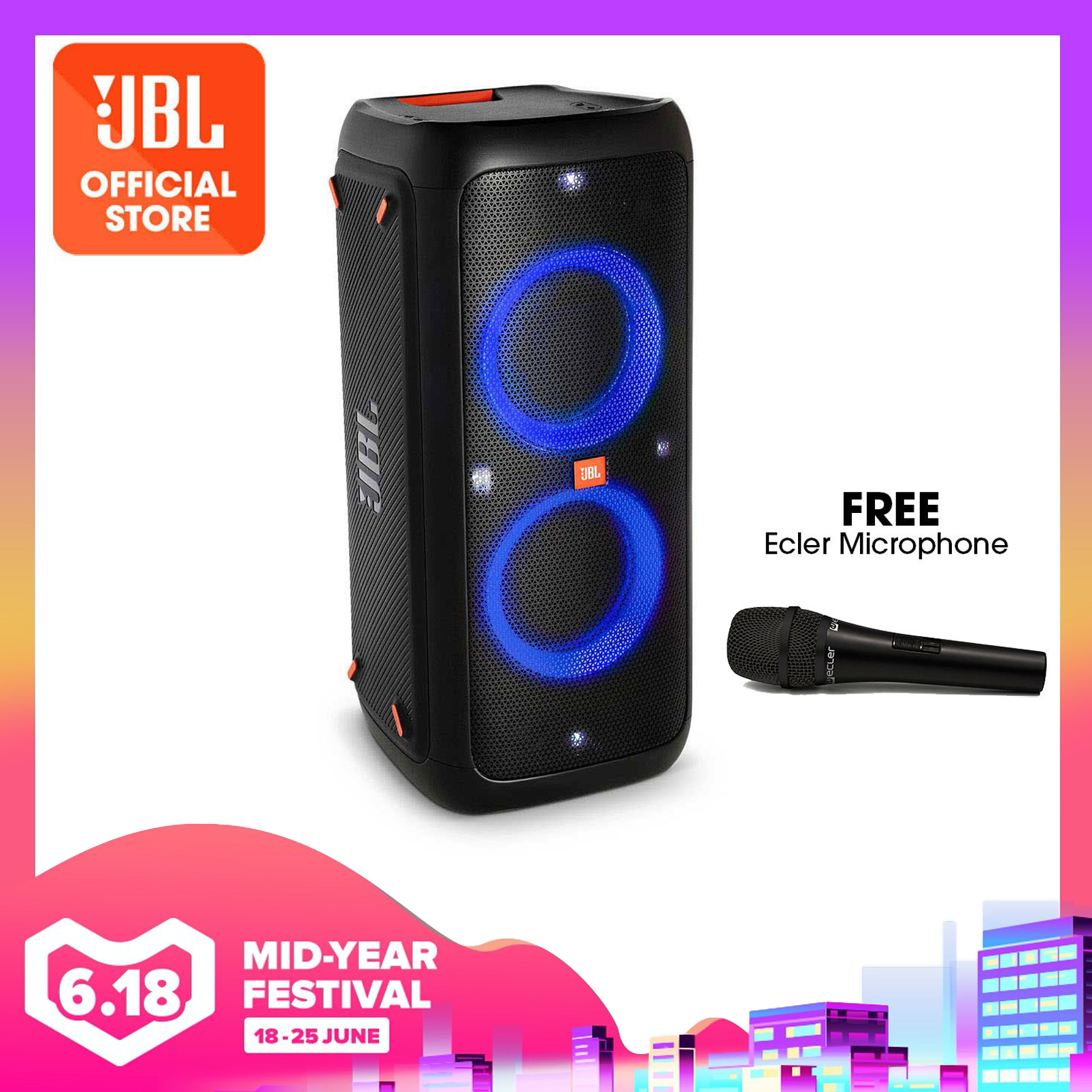 JBL PartyBox 300 Bluetooth party speaker with light effects | Why Not Deals