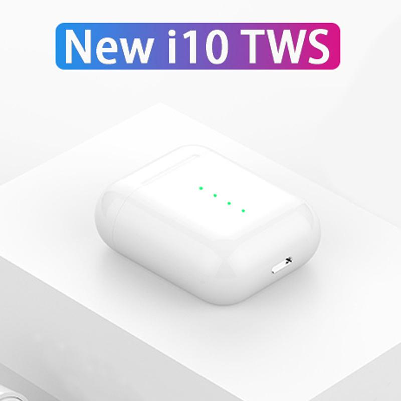 2019 New i10 TWS with Pop ups earphones 1:1 Wireless Bluetooth 5 0 3D super  stereo earbuds i10tws for iPhone apple xiaomi All Smart Phones pk 10 i11