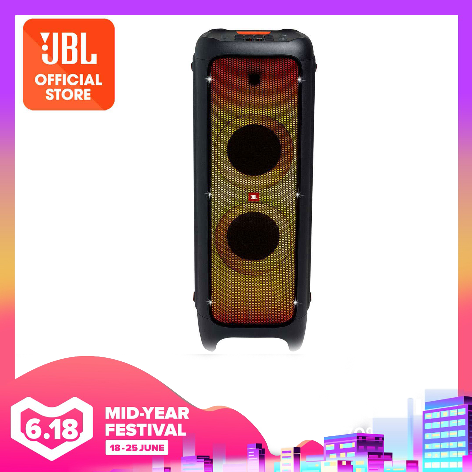 JBL PartyBox 1000 Powerful Bluetooth party speaker with full panel light effects | Why Not Deals