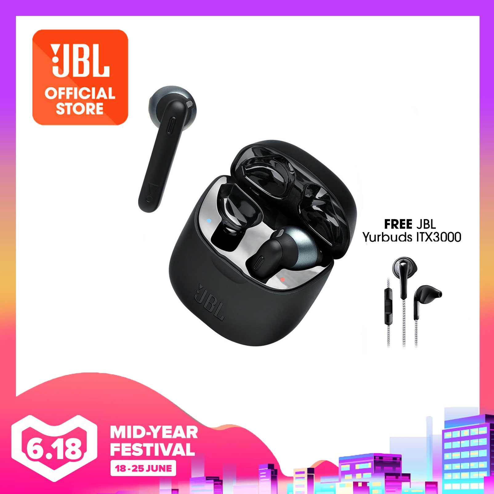 JBL Tune 220TWS Wireless Earbuds + Free Yurbuds ITX3000 | Why Not Deals