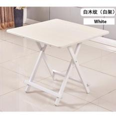 Colorful Folding Portable Foldable Table   White 60 X 54(h)cm