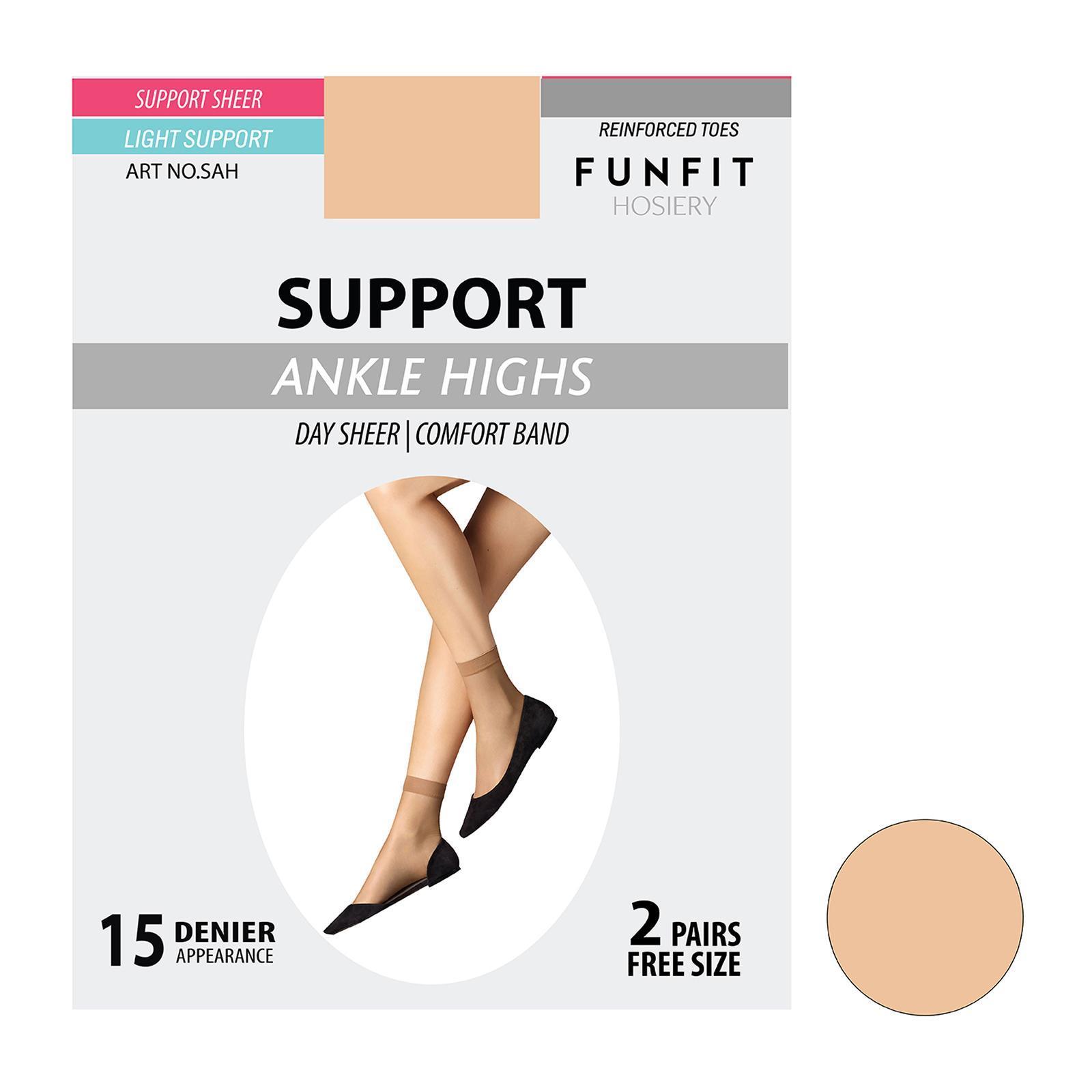 5e236e6d22a FUNFIT HOSIERY Medium Support Pantyhose (Plus Size) In Fair