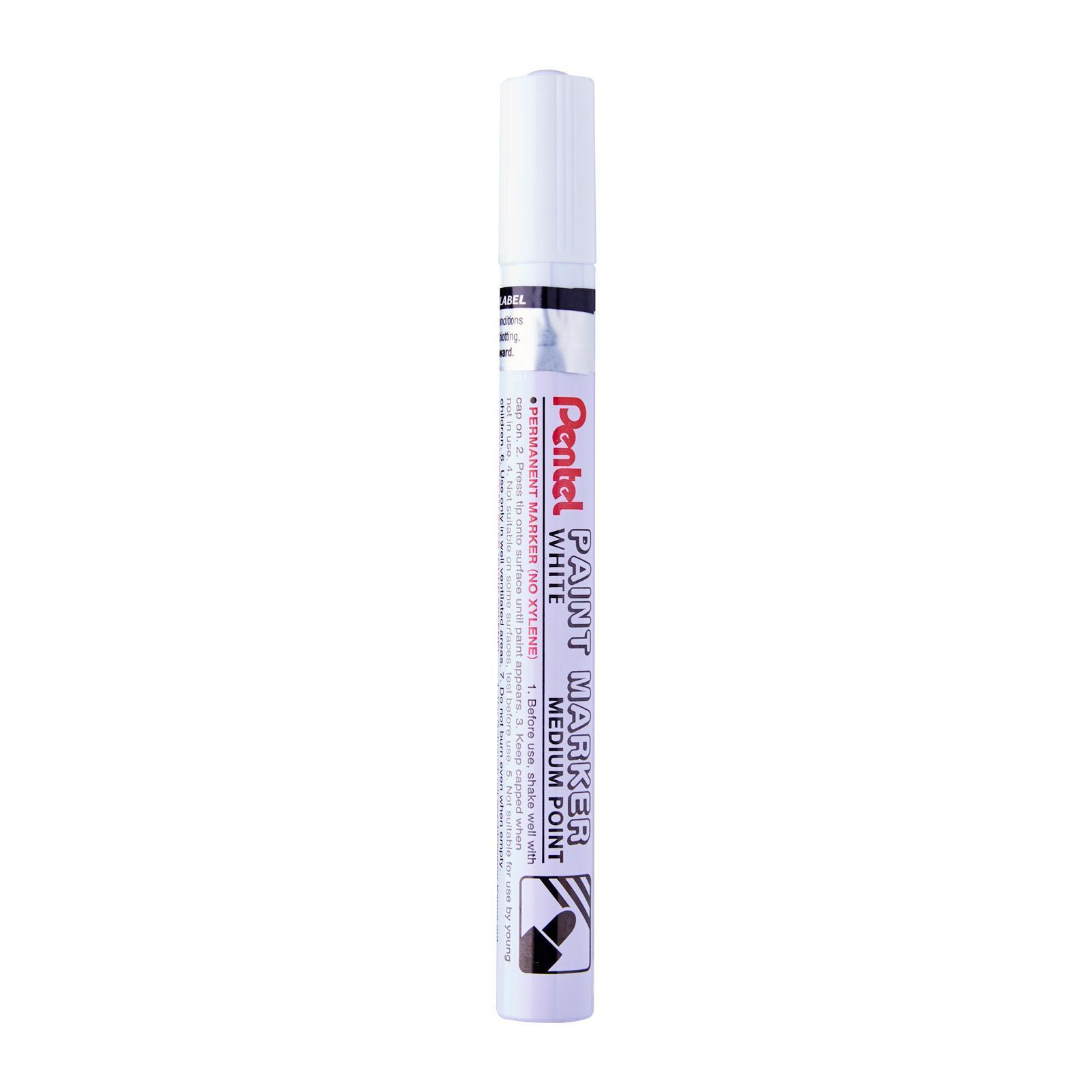 Pentel Super White Fine Permanent Paint Marker Pen SILVER INK  MSP10 PACK3
