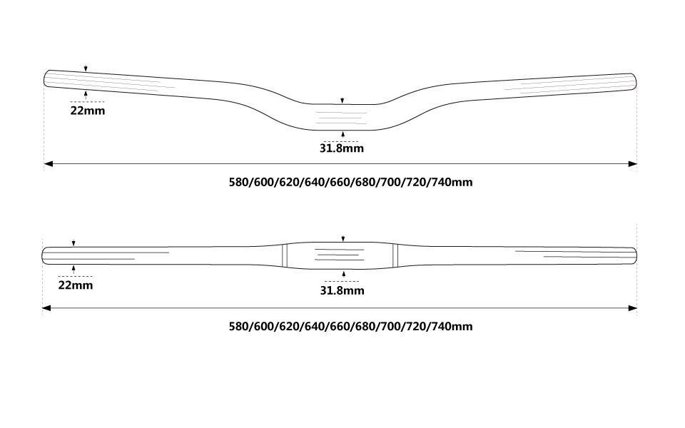 Race Face 640-760mm*31.8mm Clamp Flat Bar 3K Finish MTB Riser Carbon Handlebar