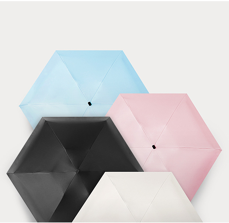 UV Protection Sunshade Travel Portable Mini Lightweight Women 5Folding Umbrella