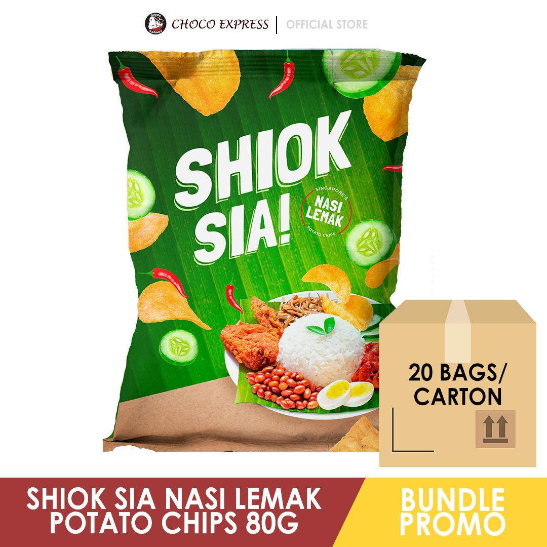 Shiok Sia Nasi Lemak Potato Chips 80G (20Bags/Carton) / Singapore Brand