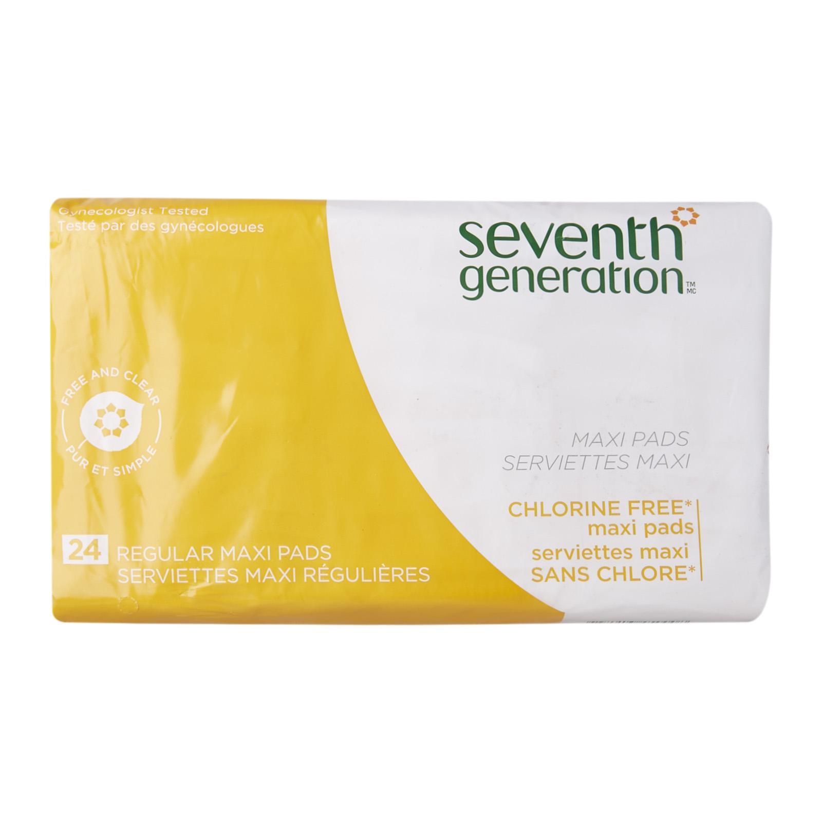 Seventh Generation Ultrathin Regular Wing Sanitary Pads 24cm