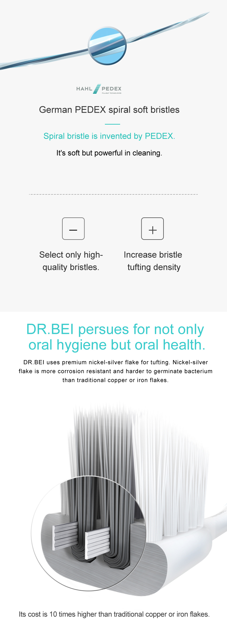 DR.BEI Bass Toothbrush, 4 Pieces (Original) Xiaomi Youpin DR.BEI Bass Soft Toothbrush Portable 4 Colors Tooth Brush With Nano Ultra-fine Bristles Wave Flat Teeth Head Travel Outdoor