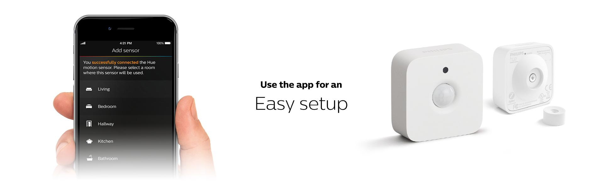 Philips Hue Smart Motion Sensor Installation-Free Exclusive for Philips Hue ...