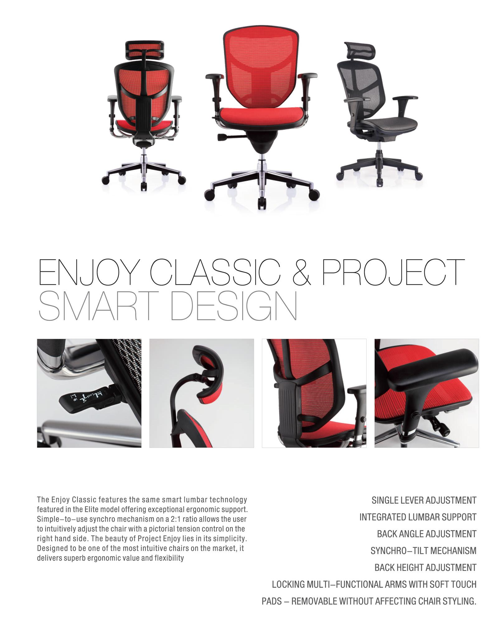 (5 Years Warranty) Ergohuman Enjoy Classic Smart Design Chair / Office  Chair / Comfortable / Gaming Chair - Free installation