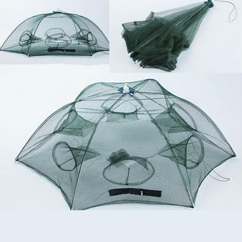 Magic Fishing Trap 4//6//8 Holes Full Automatic Folding Shrimp Cage Fish Net