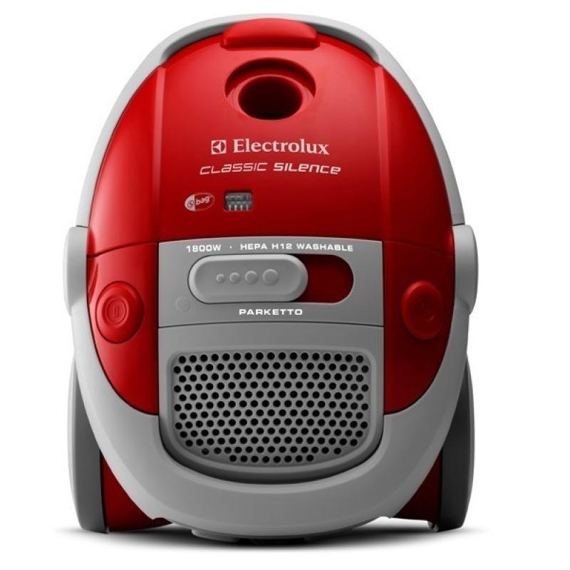 Electrolux Classic SilencER Vacuum Cleaner w Parquet floorbrush ZCS2100 (Love Red) Singapore
