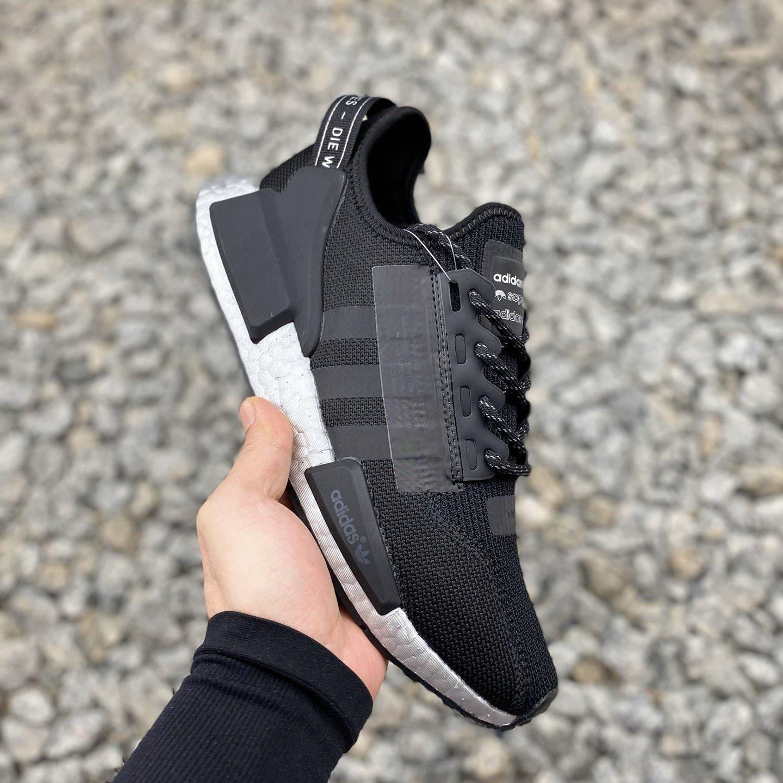 adidas nmd r1 v2 black red blue