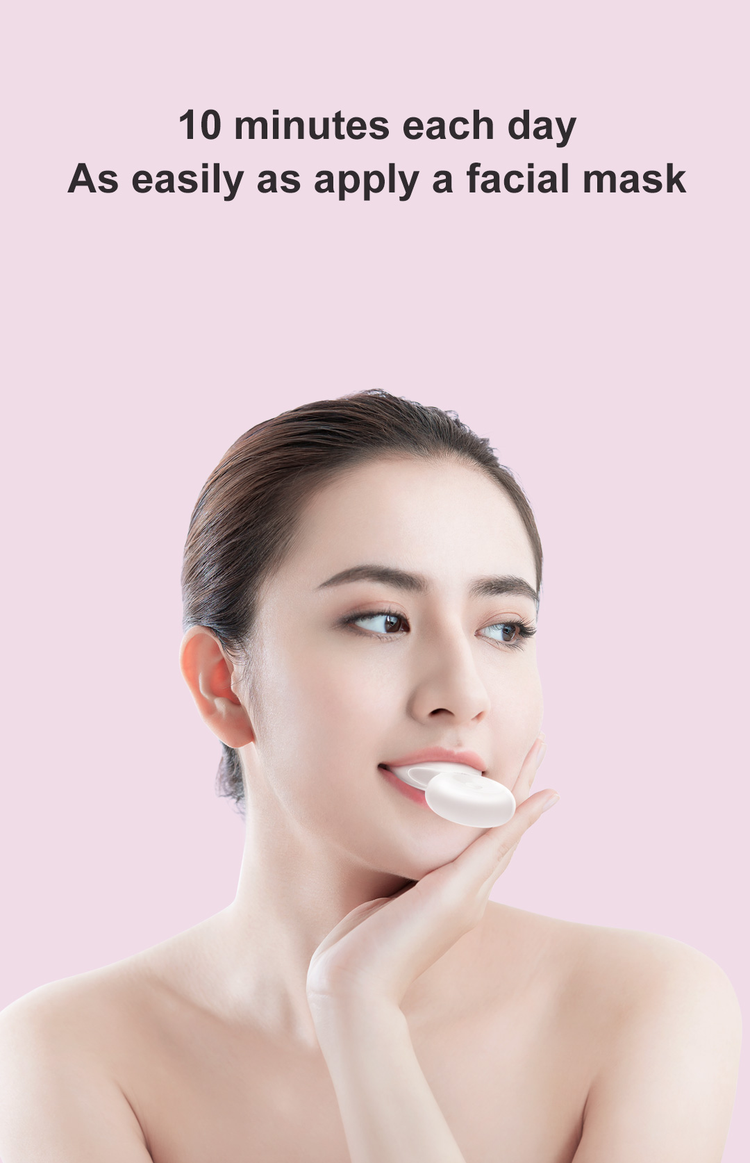 DR.BEI W7 Dental Whitening Gel, 4 Pieces Xiaomi Youpin DR.BEI W7 Dental Teeth Whitening Equipment Sonic Acoustic Oral Care Beautifier IPX7 Waterproof Tooth Whitening Cleaning Tools