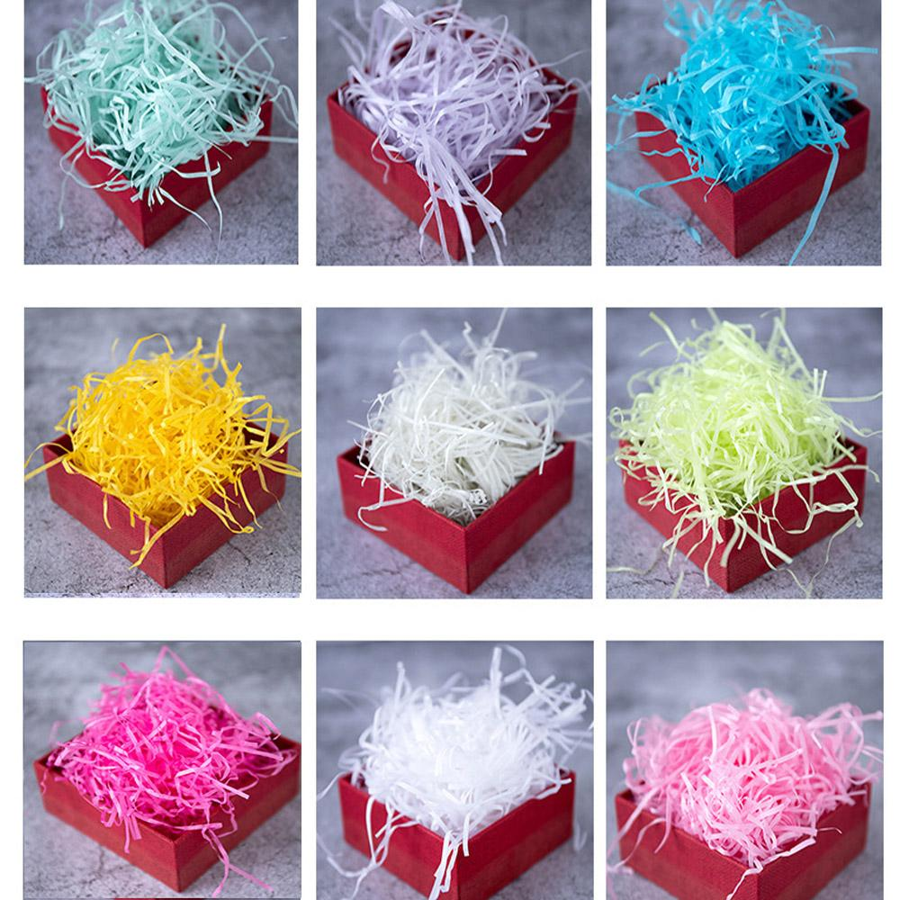 Raffia Shredded Paper Gift Box Filler Party Decoration Wrapping Supplies