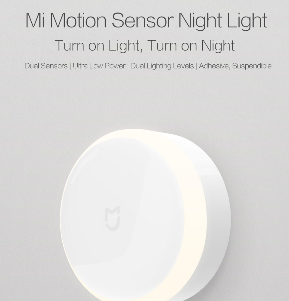 Yeelight Smart Motion Sensor IR LED Nightlight (3x AA Battery Included) -  Xiaomi Mi Night Light - Plug and Play - Built in Infra Red Body Motion