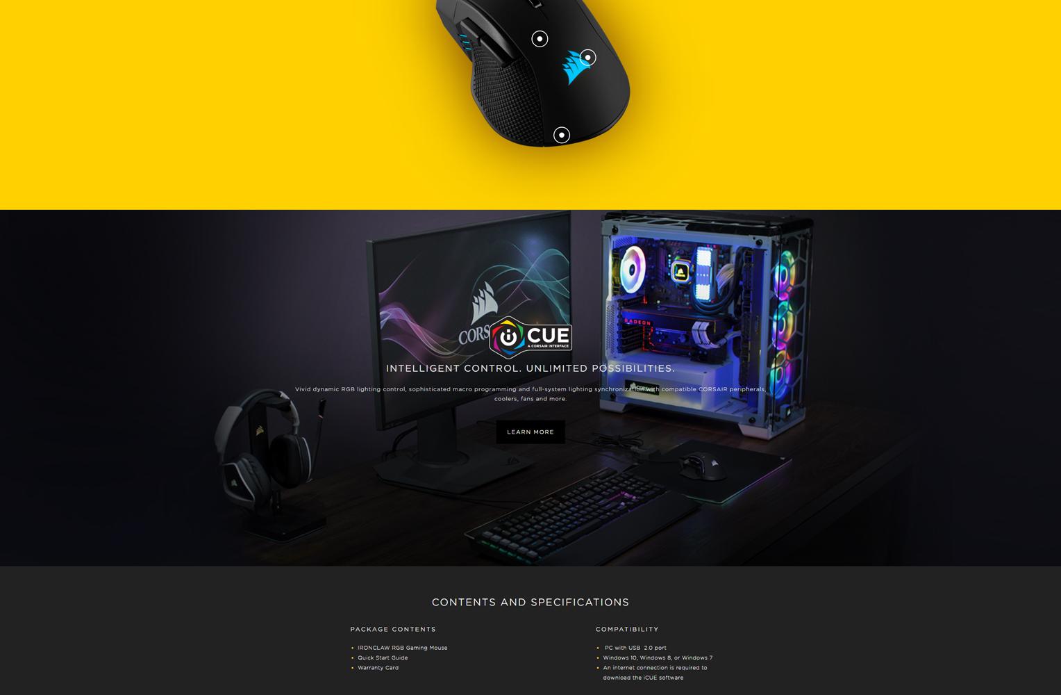 CORSAIR IRON CLAW RGB Gaming Mouse Singapore