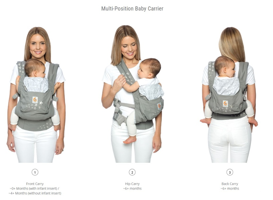 Ergobaby Original Carrier - Bundle of Joy with Easy Snug Infant Insert (Galaxy Grey)