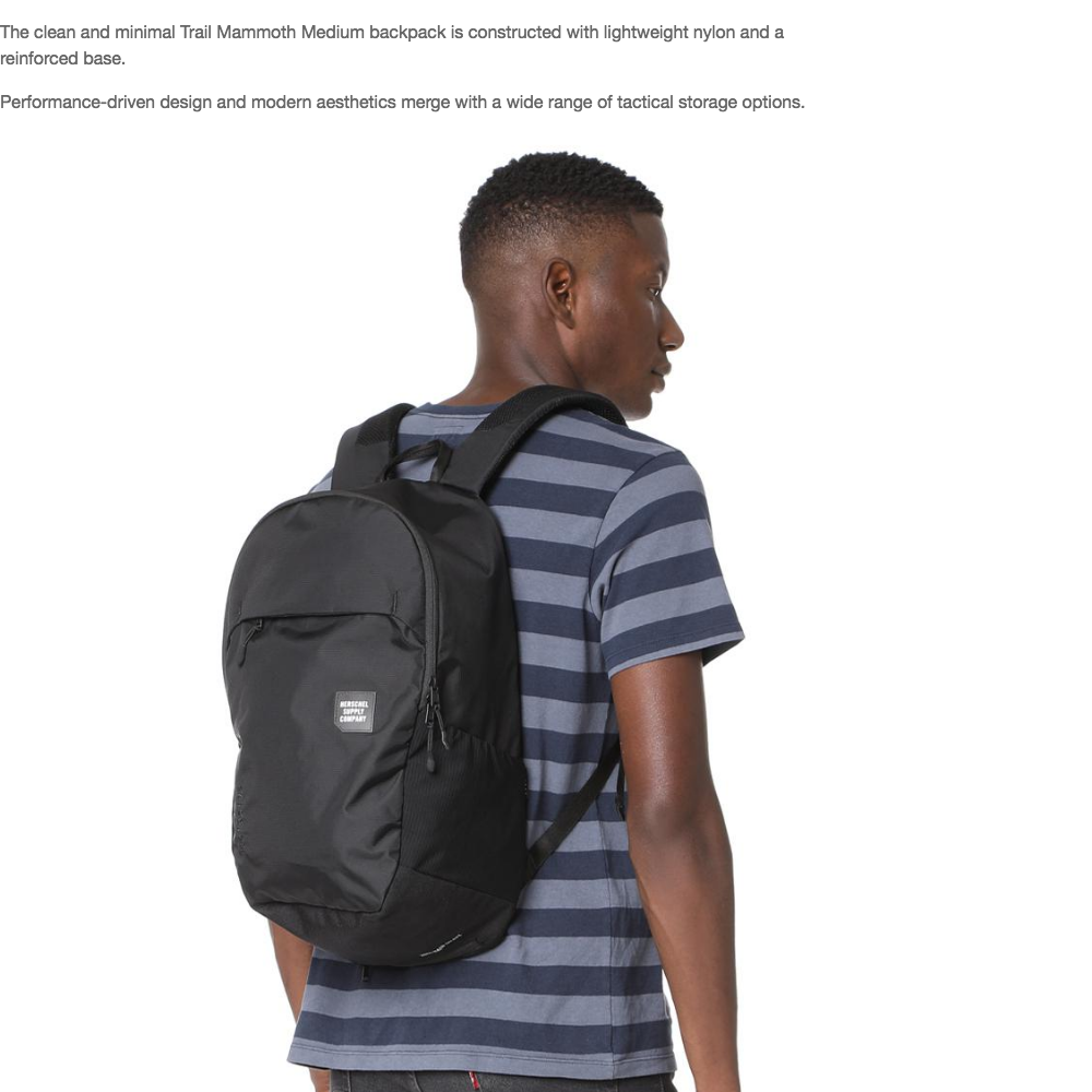 factory authentic website for discount best supplier Herschel Supply Co. Mammoth Medium Size Backpack Trail Pack with ...
